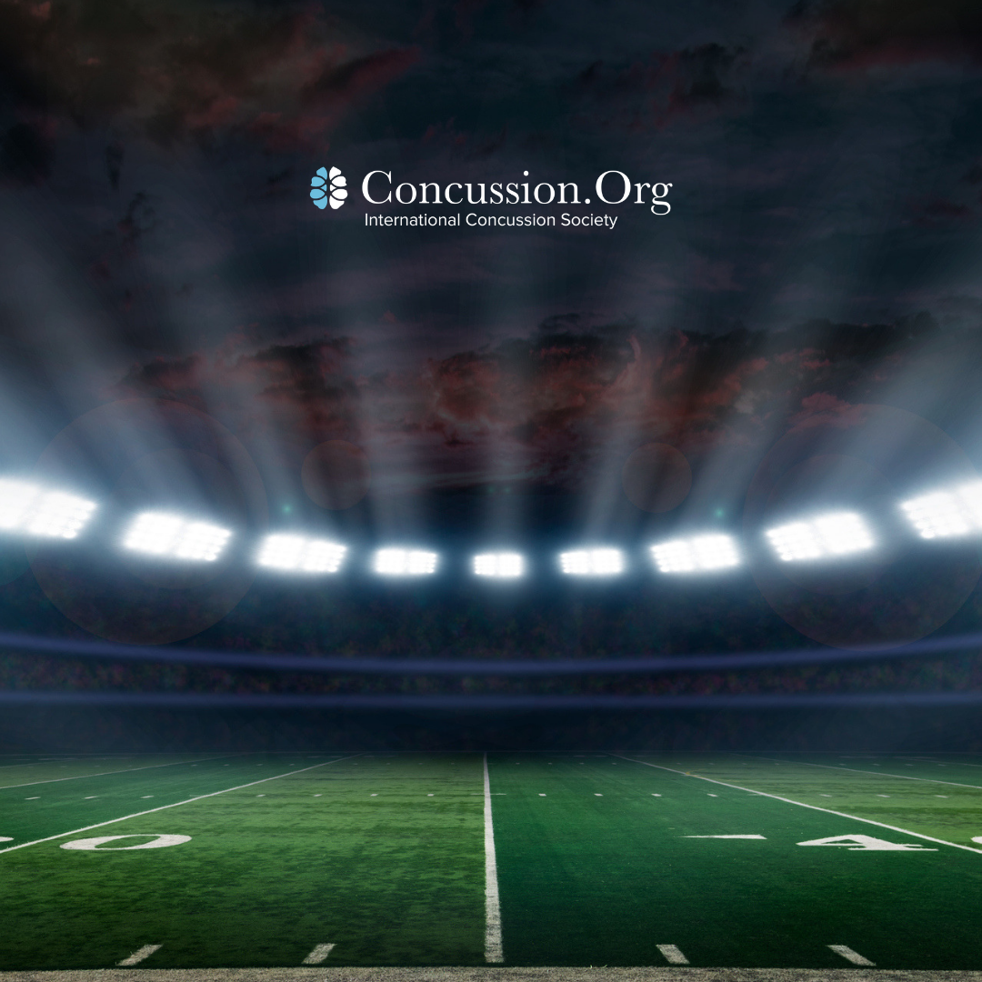 concussion.org logo over football field